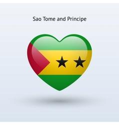Love Sao Tome and Principe symbol Heart flag icon vector