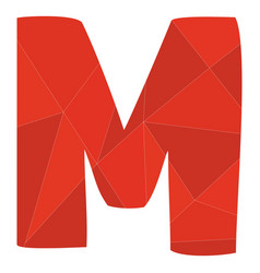 M red alphabet letter isolated on white background vector