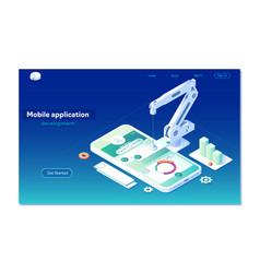 Mobile app development vector