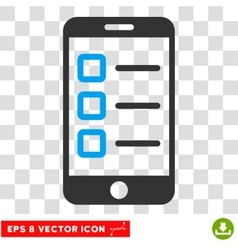 Mobile Test Eps Icon vector