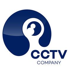 modern cctv logo vector image