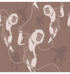 monkeys seamless background vector image