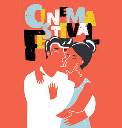 movie cinema festival poster vector image