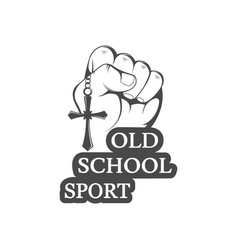 Old school sport logo vector