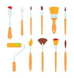 painting tools set oil vector image