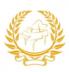 piano symbol vector image