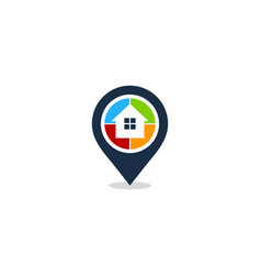 pin house logo icon design vector image