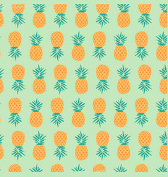 Pineapple pattern background free vector