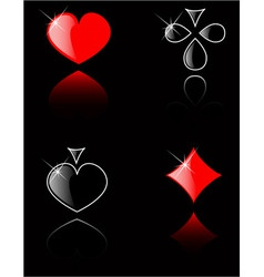 Play card set eps 8 vector