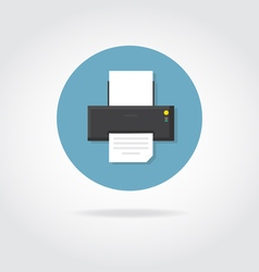 Printer flat icon vector image
