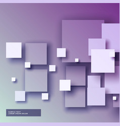 Purple background with 3d squared in different vector