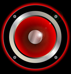 Red speaker cone vector