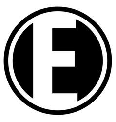 Round e logo vector