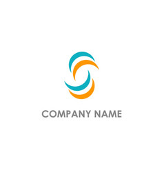 s circle initial abstract company logo vector image
