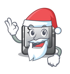 santa button s isolated with mascot vector image
