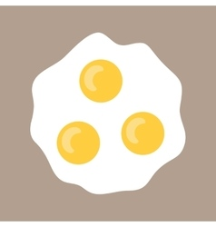 Scrambled eggs Flat icon fried eggs Food for vector