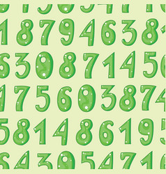 Seamless pattern with cool cartoon numbers on vector