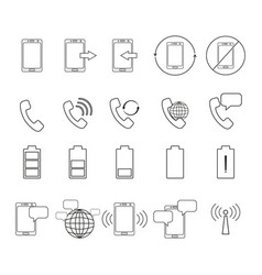 set of telephone icons vector image