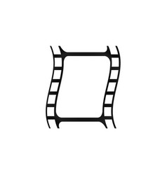 Simple filmstrip icon vector