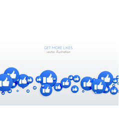 social media network blue likes thumb up icons vector image
