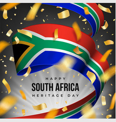 South africa heritage day banner with national vector
