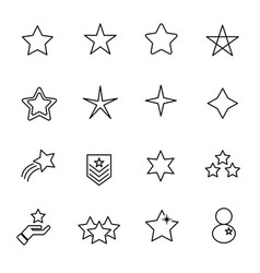 star icon set sign and symbol concept thin line vector image