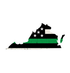 State virginia military support american flag vector