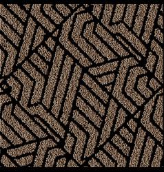 Structured grunge 3d seamless pattern geometric vector