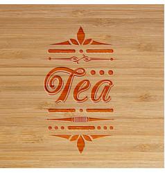 tea carved artwork vector image