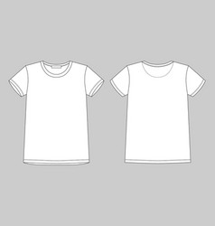 technical sketch unisex t shirt on gray vector image