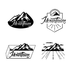 The Mountains are calling vector image