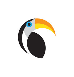 toucan flat style logo template isolated vector image
