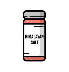 transparent glass jar of himalayan salt vector image
