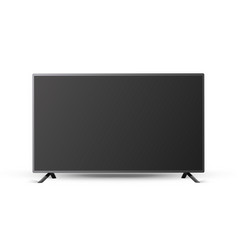 tv empty black screen realistic vector image