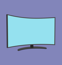 tv screen simple icon isolated household vector image