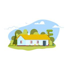 ukrainian hut flat style vector image