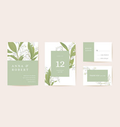 Watercolor lily floral wedding card spring vector