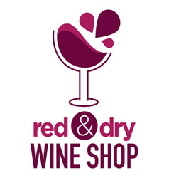 wine store or shop wineglass isolated icon winery vector image