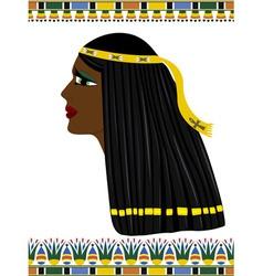 Ancient Egypt portrait of woman vector image vector image