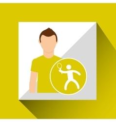 athlete man tennis sport graphic vector image