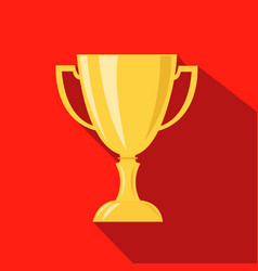 cup hunting champion cartoon flat icon vector image vector image