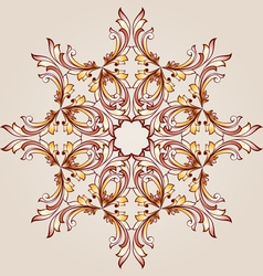Flower pattern henna vector image vector image