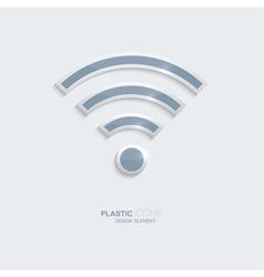 Plastic icon symbo wi-fi zonel vector image vector image
