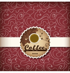 template for a coffee menu vector image vector image