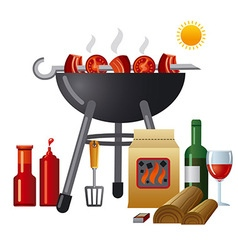 barbecue equipment vector image vector image
