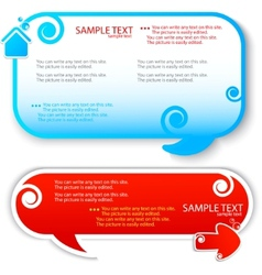 colorful speech frame for text vector image vector image