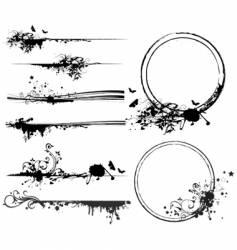design elements frame vector image