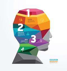 Geometric head design infographic template vector