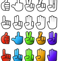 hand signs vector image