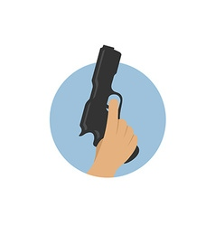 Hand with gun vector image vector image